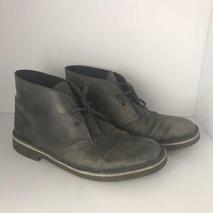 Clark's Gray Desert Boots               SC